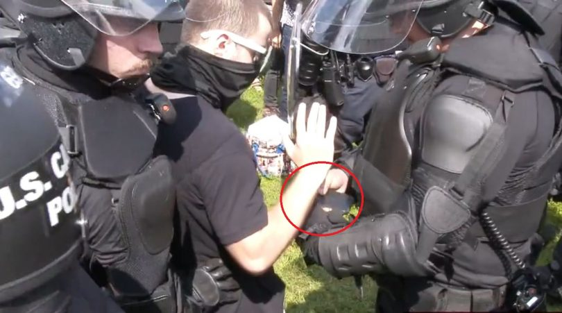 Watch: The Feds Actually Arrest One of Their Own at Staged 'Justice for J6' Rally