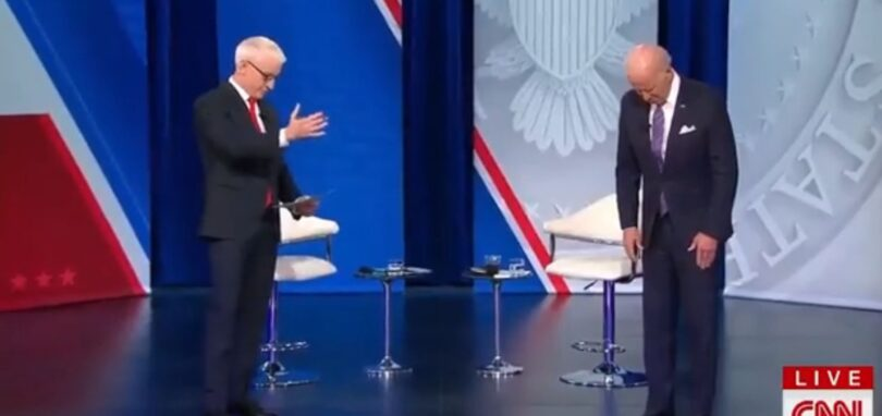For Some Reason, Biden Froze Over and Over Like a Robot That Was Malfunctioning at CNN's Town Hall